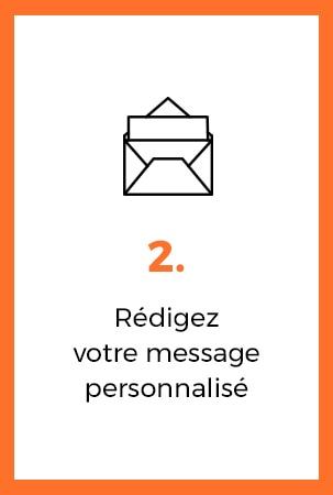 redigez votre message personnalise
