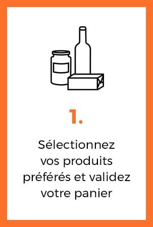 selectionner vos produits preferes et valider votre panier
