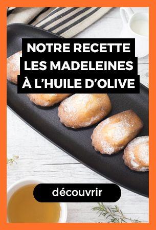 madeleines à l'huile d'olive